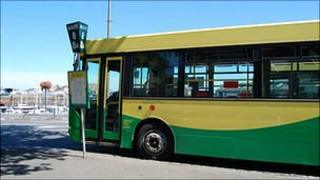 Guernsey bus at St Peter Port terminus