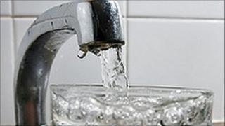 running water tap
