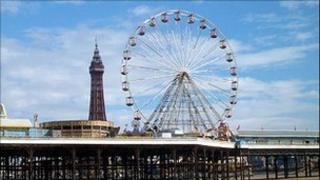 Blackpool Tower and resort