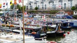 Boats at Bristol Harbour Festival - John Wilkes