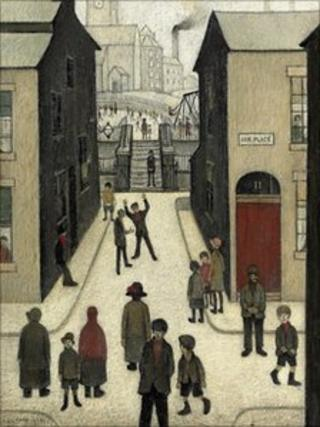 The Steps, Irk Place, by Laurence Stephen Lowry (1928) Christie's/PA