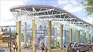 Artist's impression of Mansfield Bus Station