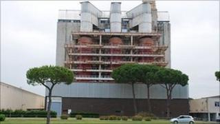 Latina nuclear power plant near Rome