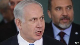 Benjamin Netanyahu and his Foreign Minister Avigdor Lieberman - January 2010