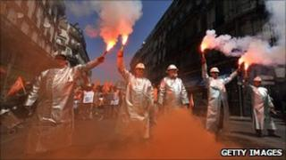 Pension protest in France