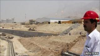 Gas field in South Pars Special Economic Energy Zone, Asalouyeh, Iran