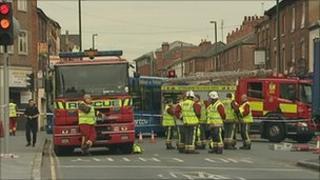 Scene of the crash on Alfreton Road