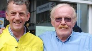 Andrew Rowan (left) and his brother Ronnie