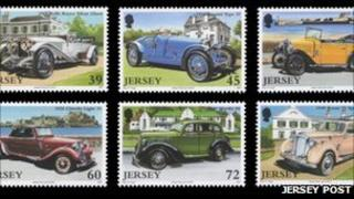 Vintage car stamps