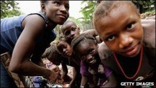 A group of Sierra Leone women