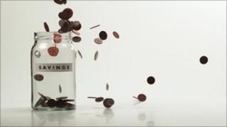 Savings jam jar