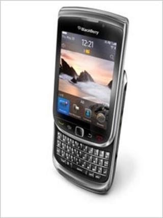 The Torch Blackberry mobile phone