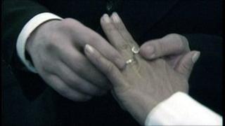Generic wedding ring pose