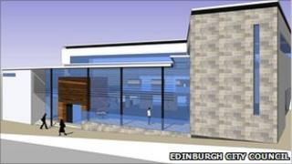 artist's impression of Drumbrae Library