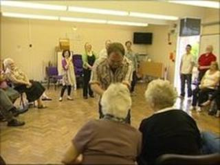 Black Country Touring members working with people in Sandwell