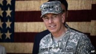 Gen David Petraeus, commander of US and Nato forces in Afghanistan, file pic July 2010