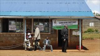 A polling station in Kenya