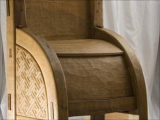 Recreated Pictish throne