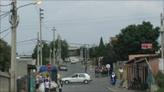 Street scene in Alexandra township, Johannesburg