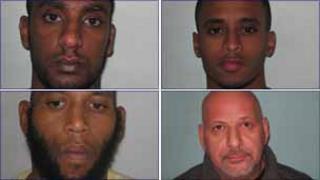 Clockwise: Aman Kassaye, Solomun Beyene, Clinton Mogg and Thomas Thomas