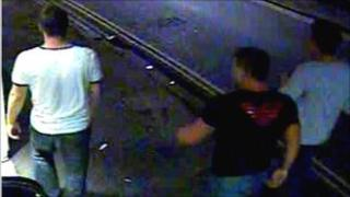 CCTV still of three men police want to speak to