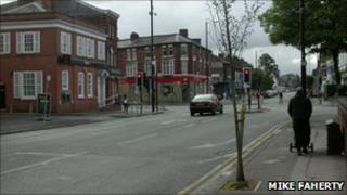 Crossroads in Chorlton