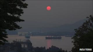 Smoke over Vancouver, British Columbia