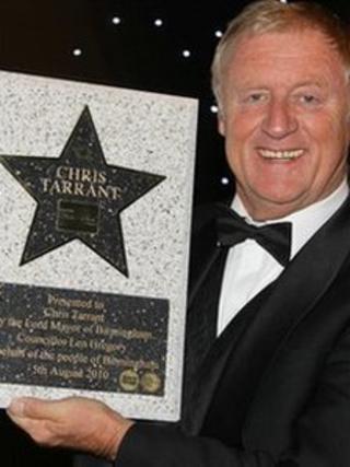 Chris Tarrant receives his Birmingham Walk of Star-picture by Birmingham BID