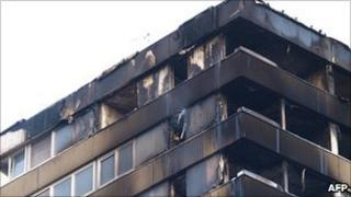 The tower block in Kingston after last month's fire