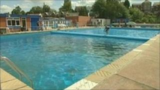 The new refurbished Beccles Lido