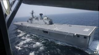 South Korean naval exercises in the Yellow Sea