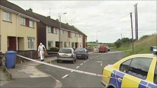 Omagh stabbing scene