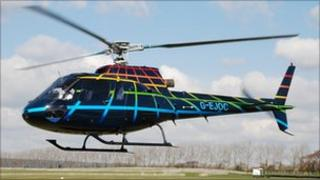 The helicopter operating from Portland's Southwell Business Park
