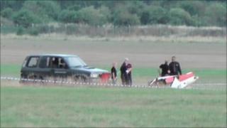 The crashed glider