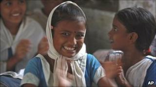 A schoolgirl in Dhaka, Bangladesh, July 2010