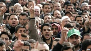 Islamic Action Front rally in Amman in January 2008
