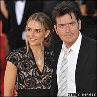 Charlie Sheen with wife Brooke, pictured last September