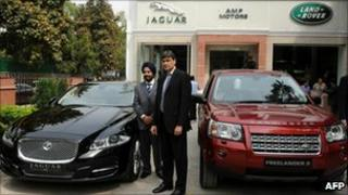 Jaguar Land Rover showroom in New Delhi