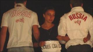 Anti-Russian theatre performance in Georgian summer camp (August 2010)