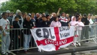 EDL protest in July in Dudley