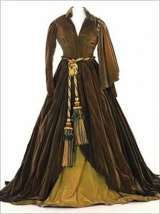 Green curtain dress worn by Vivien Leigh in Gone With the Wind