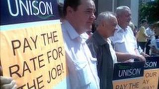 Aberdeen council workers hold protest