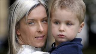 Caroline Haywood and her son Harvey Dellar