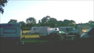Travellers have moved onto Old Yardley Park