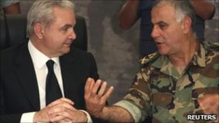 Elias Murr and army commander Jean Kahwaji