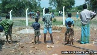 Children in a camp in Sri Lanka