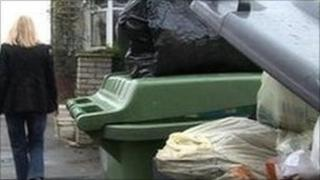 Rubbish bins