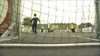 Mobile football pitch