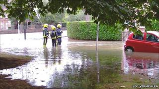 Flooded London Road