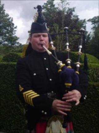 Andy Paton and his bagpipes